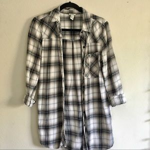 Long Plaid Flannel